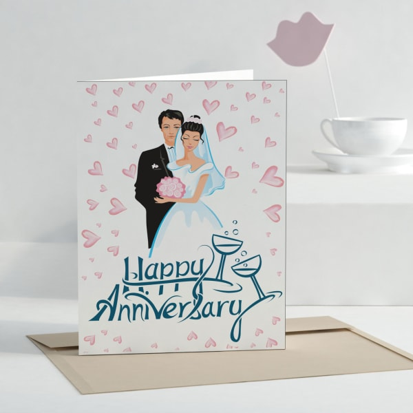 Happy Anniversary Personalized Greeting Card Gift Send Greeting Cards Gifts Online J11046628 Igp Com