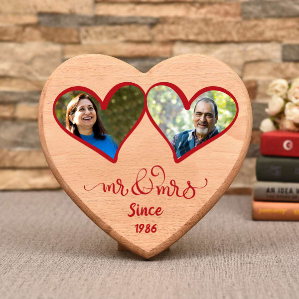 Happy Anniversary Personalized Wooden Photo Frame