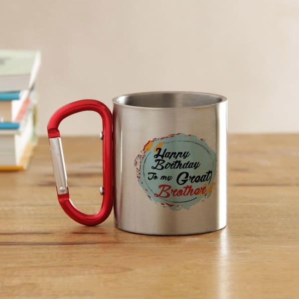 Happy Birthday Brother Steel Mug Gift Send Home And Living Gifts