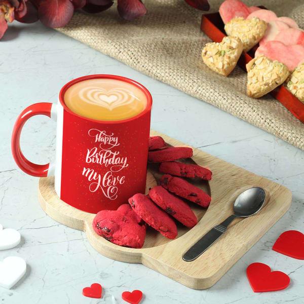 Happy Birthday Mug & Cookies Hamper