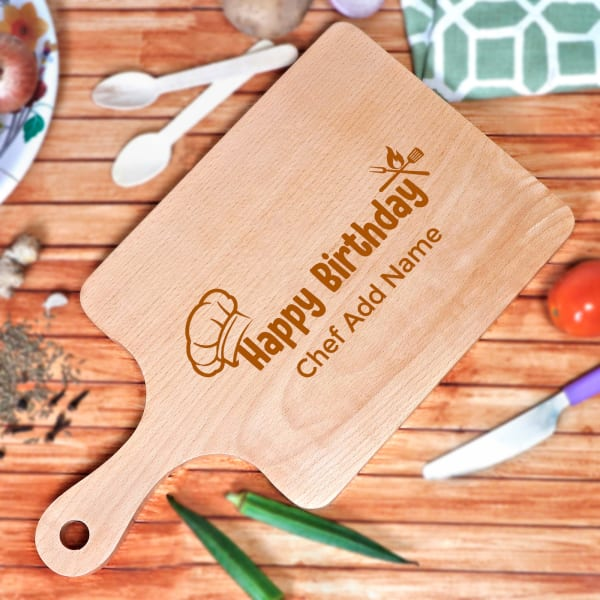 Happy Birthday Personalized Wooden Chopping Board