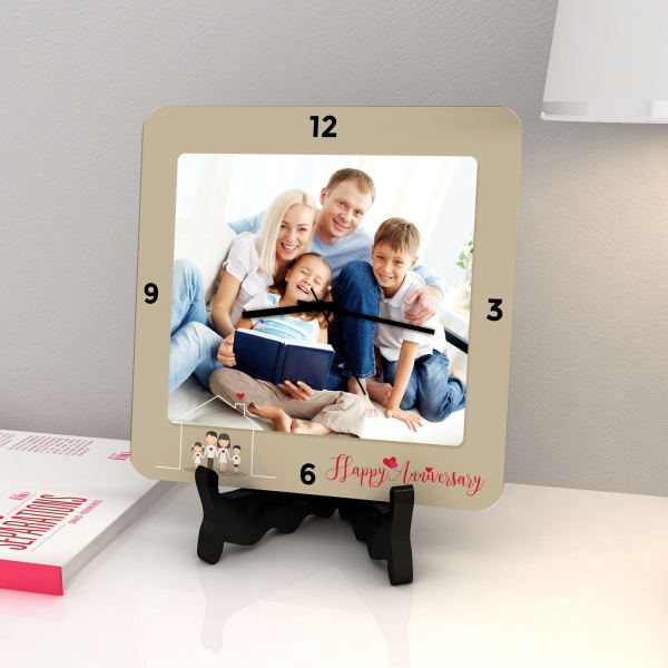 Quirky Gifts Happy Home Decor Now Online In India: Happy Family Personalized Anniversary Clock: Gift/Send
