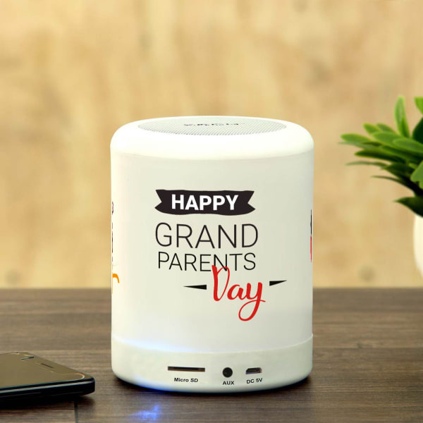 Happy Grandparents Day Customized LED Bluetooth Speaker