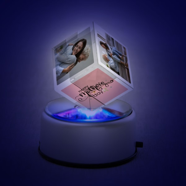 Happy Mother's Day Personalized Rotating Crystal