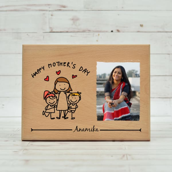 Happy Mother's Day Personalized Wooden Photo Frame
