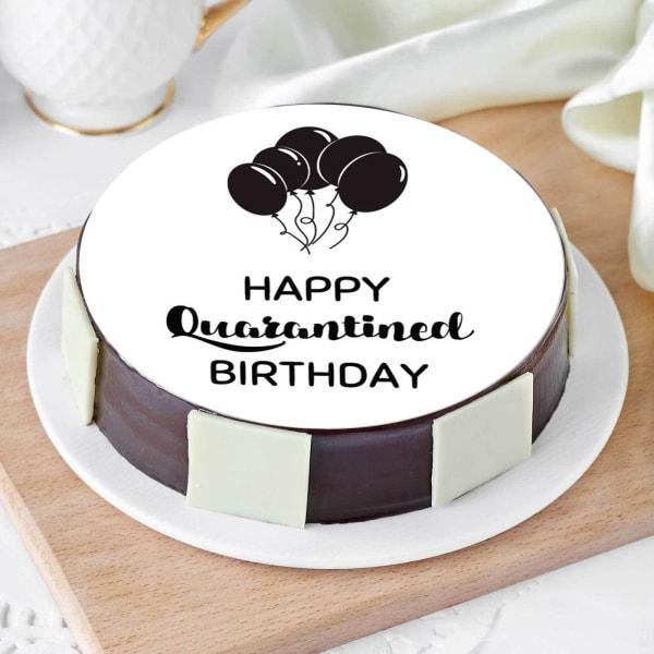 Happy Quarantined Birthday Cake (Half Kg)