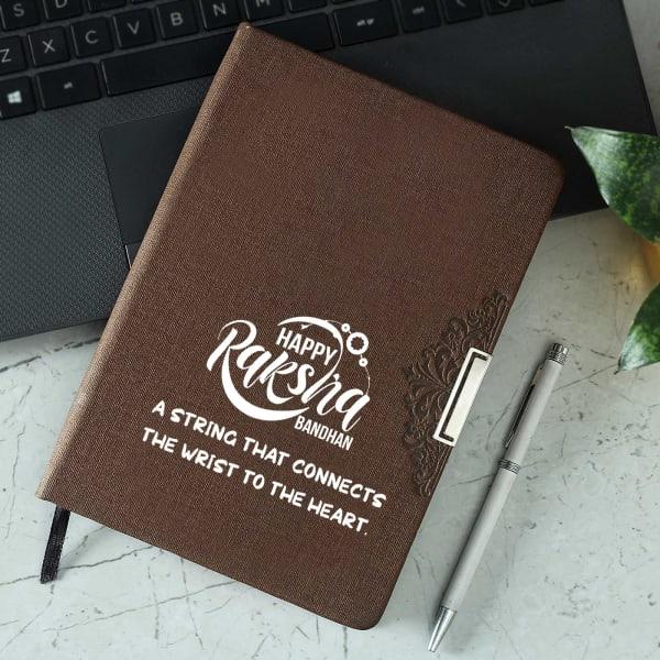 Happy Rakshabandhan Brown Diary