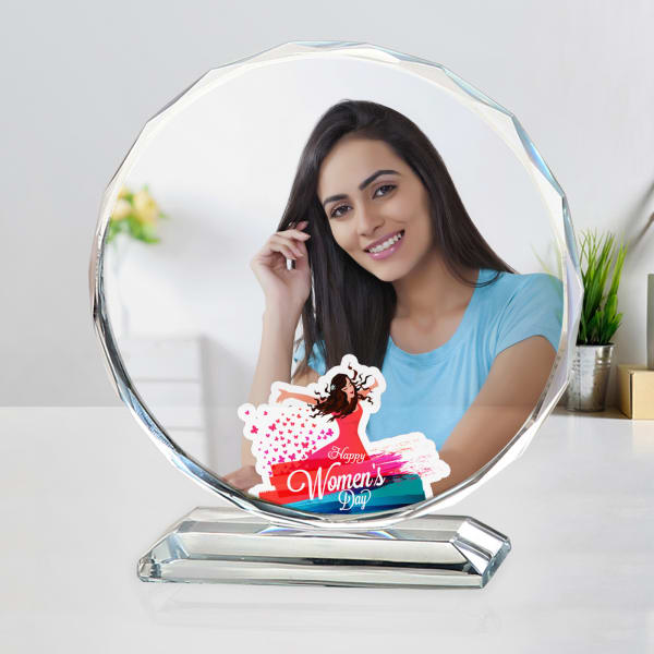 Happy Women's Day Personalized Crystal