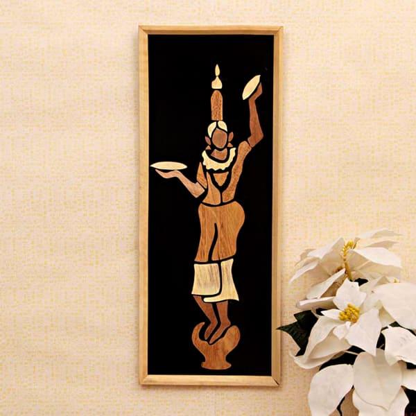 Hazarika Dance Wooden Relief Painting
