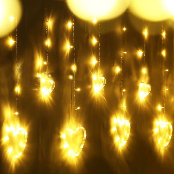 Heart-Shaped LED Hanging Lights