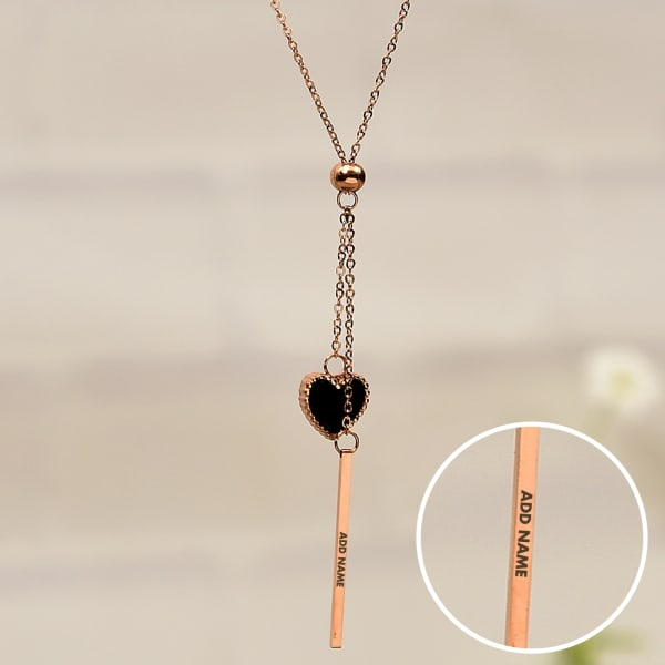 Heart Shaped Personalized Necklace