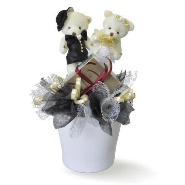 Heartbender - Stuff Bears with Decadence Belgian Chocolate Pralines Pot Gift