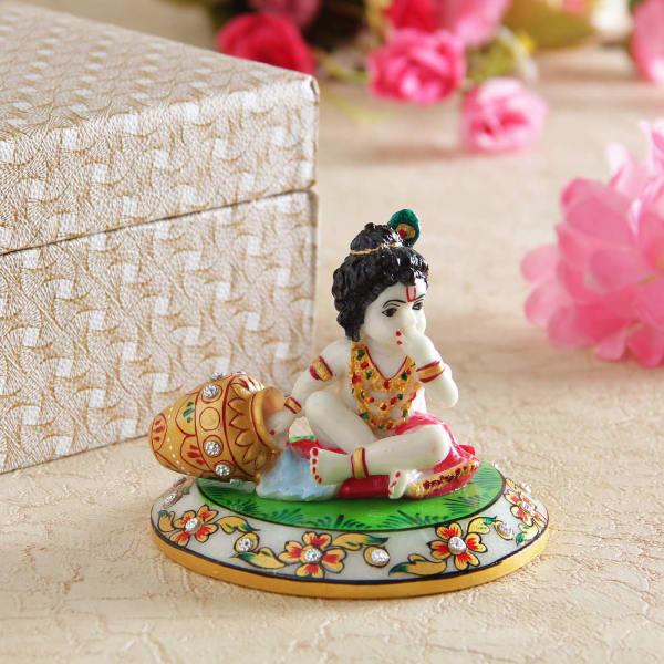Heartwarming Lord Krishna Idol: Gift/Send Home and Living