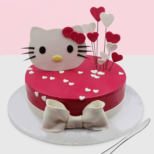 Hello Kitty Hearts Fondant Cake (3 Kg)