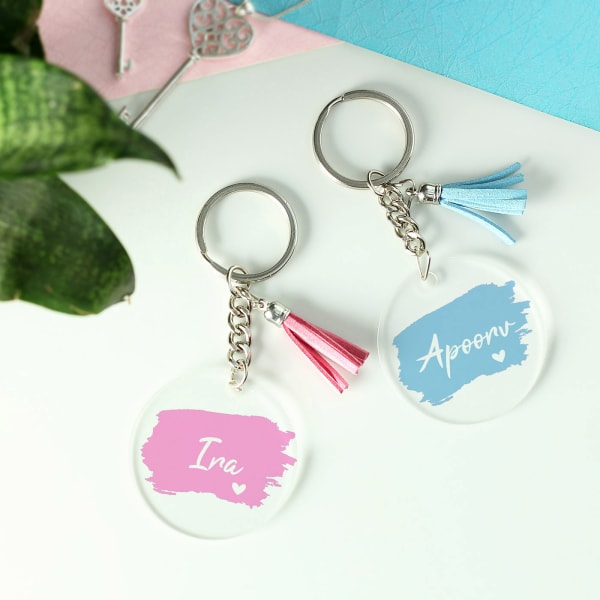 Him & Her Personalized Couple Key Chains