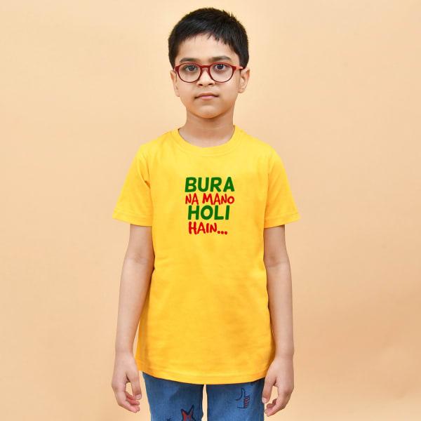 Holi Hai Quote Tshirt for Boys