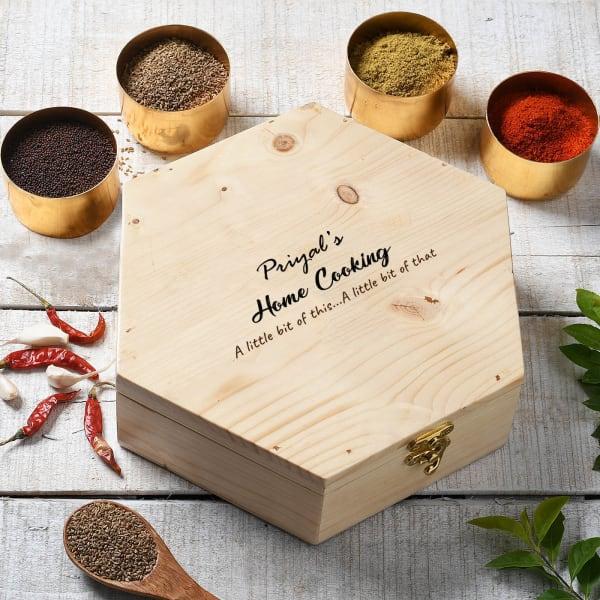 Home Cooking Personalized Hexagonal Masala Box