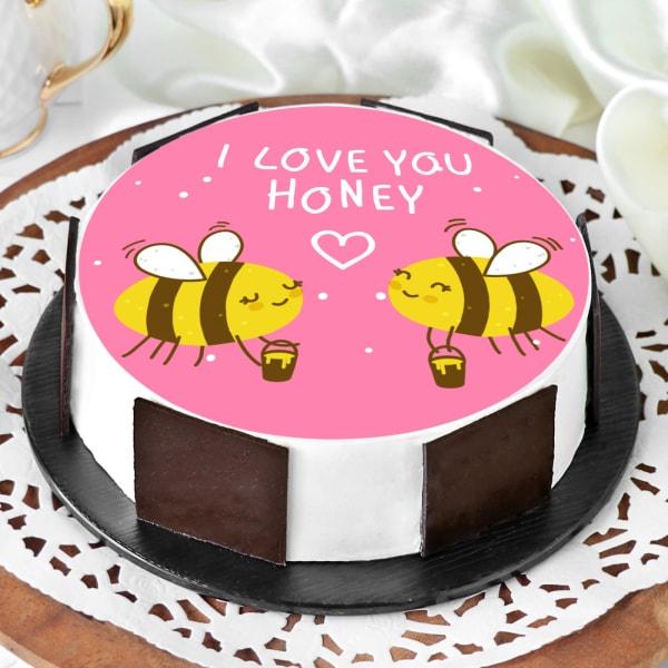 Honey Bees Proposal Cake (Half Kg)