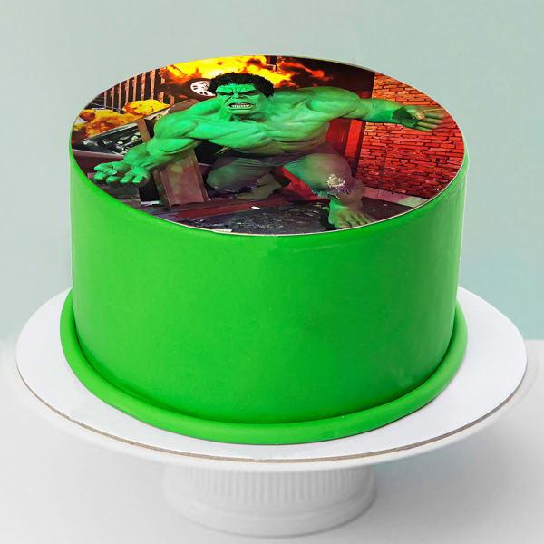 Hulk Photo Fondant Cake (1 Kg)