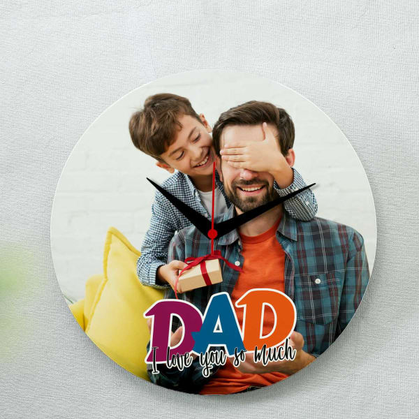 I Love Dad Personalized Photo Clock