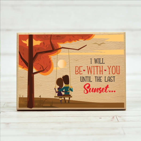 I Will Be With You Customized Wooden Frame