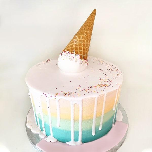Ice Cream Rainbow Fondant Cake (2.5 Kg)