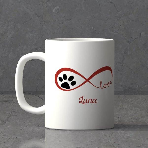 Infinity Pet Love Personalized White Ceramic Mug