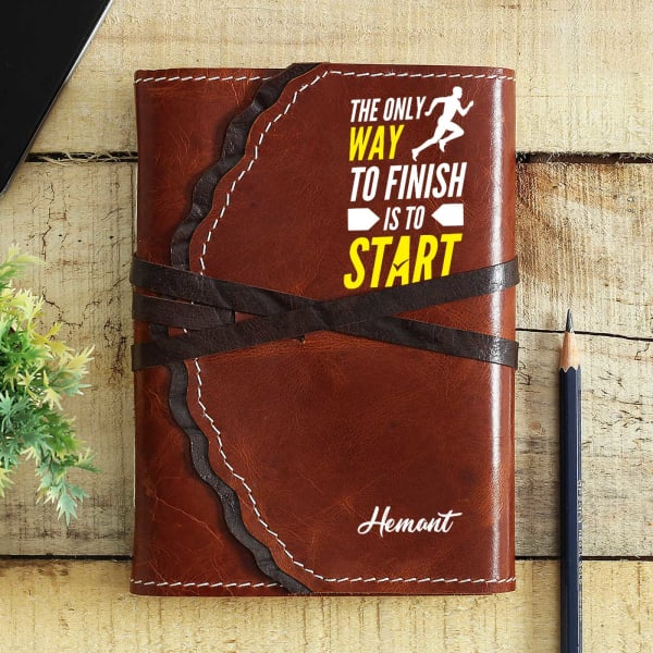 Inspiring Personalized Brown Journal