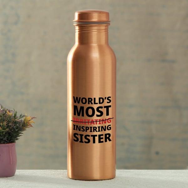 Inspiring Sister Copper Water Bottle