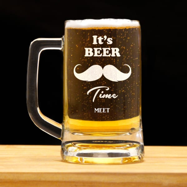 It's Beer Time Personalized Beer Mug