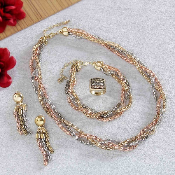 Gold Italy Platinum: Italian Gold Copper & Platinum Plated Twisted Jewellery