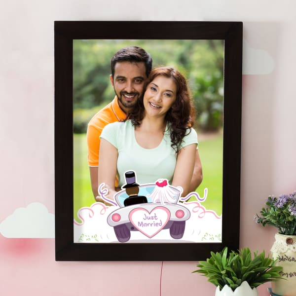 Just Married Personalized A3 Photo Frame