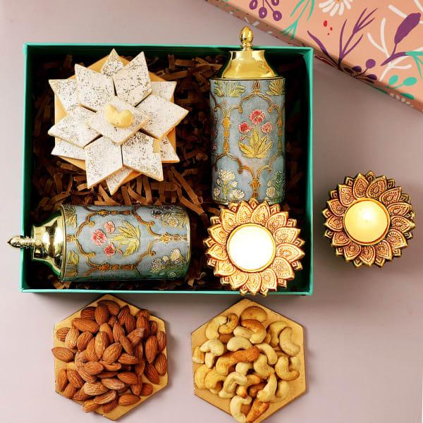 Kaju Katli And Dry Fruits Diwali Gift Box