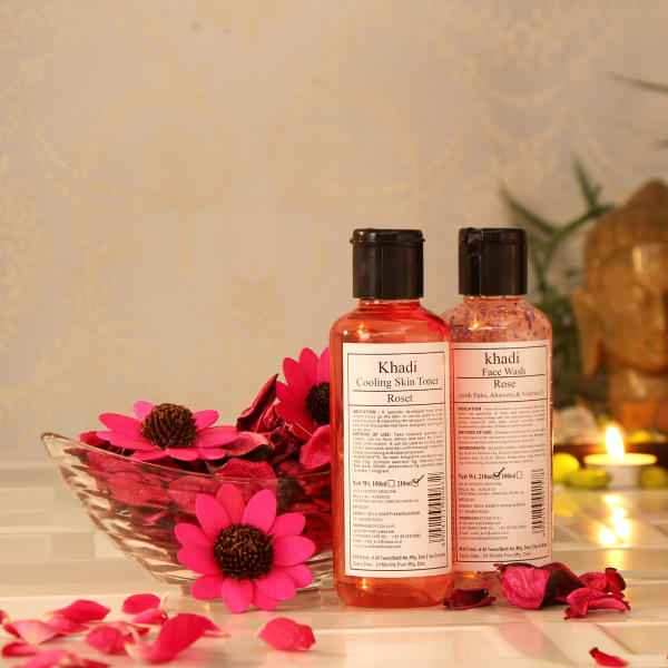 Khadi Skin Care Kit with  Reed Diffuser in Gift Bag