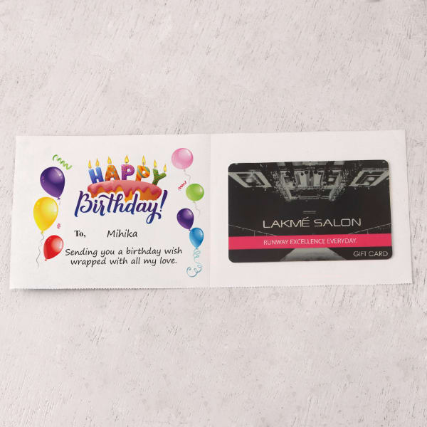 Lakme 500 INR Personalized Birthday Gift Card: Gift/Send