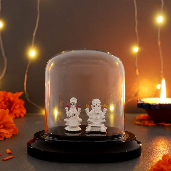 Lakshmi Ganesha 999 Pure Silver Idol