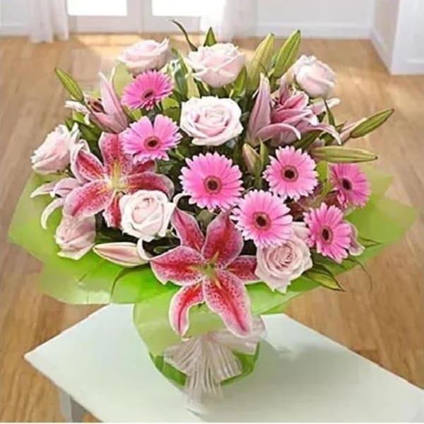 Lavish Pink Flower Bunch