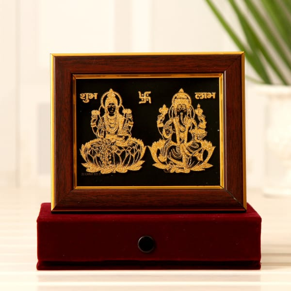 5eead7b0d23a Gifts · Home and Living · Home Decor · Religious and Spiritual Idols. Laxmi  Ganesha 22 Carat Gold Wall Decor