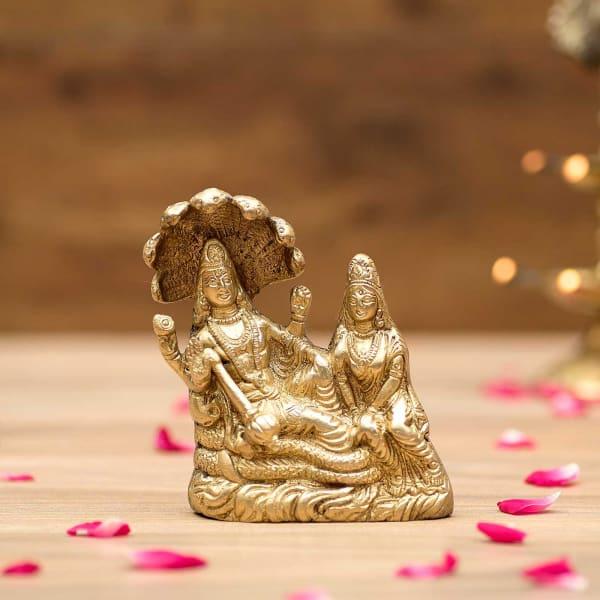 1ab263aca50c Laxmi Vishnu Brass Idol  Gift Send Home and Living Gifts Online ...