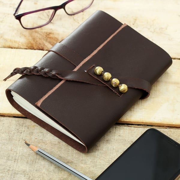 Leather Journal in Brown