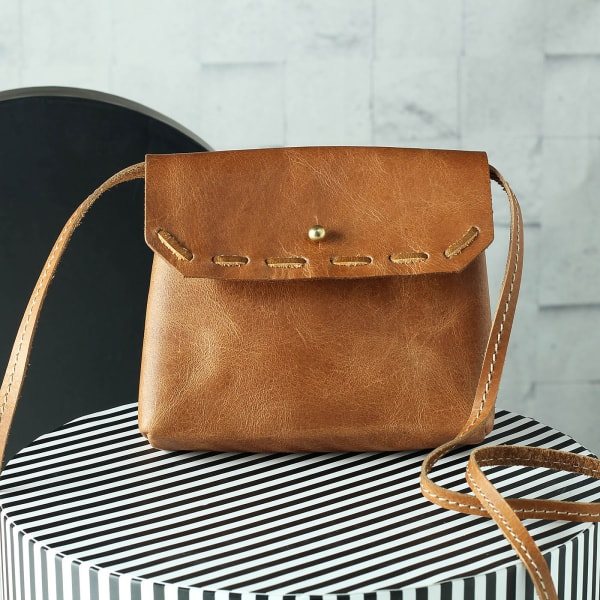 Leather Small Sling Bag for Women