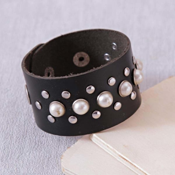 Leatherette Wrist Band For Men