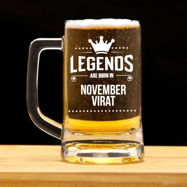 Legends Personalized Birthday Beer Mug