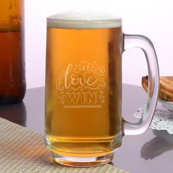 Let Love Win Beer Mug