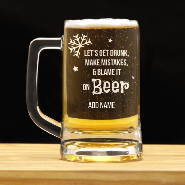 Let's Get Drunk Personalized Beer Mug