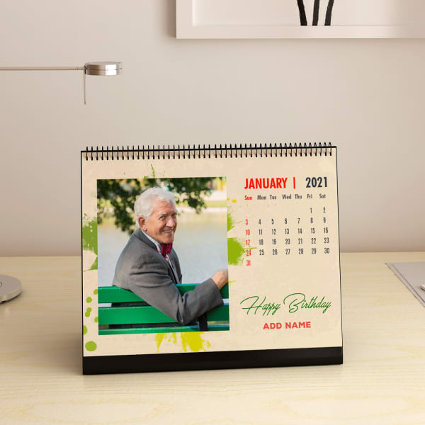 Life goes on Personalized Birthday A5 Desk Calendar