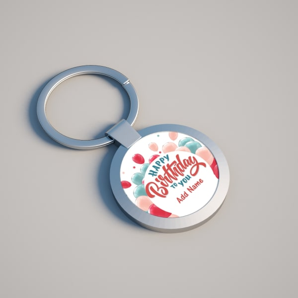 Life is Sweet Personalized Keychain