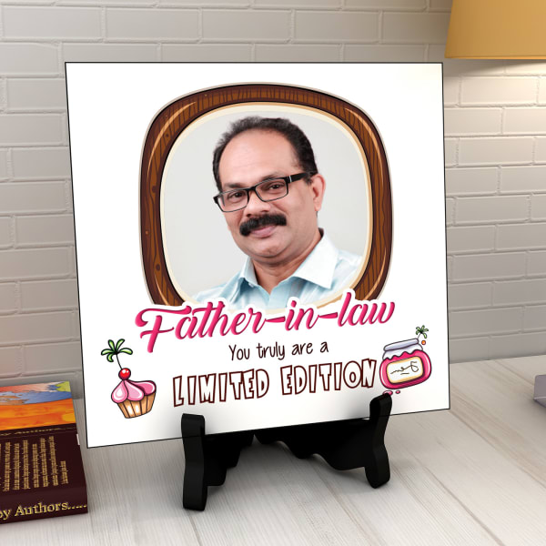 Limited Edition Personalized Tile for Father-in-Law