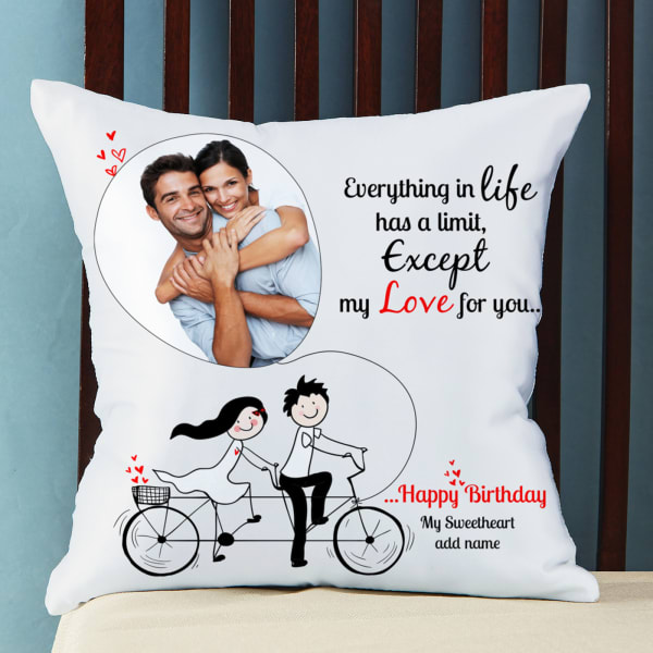 Limitless Love Personalized Birthday Cushion