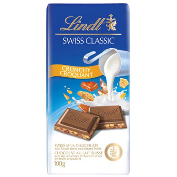Lindt Swiss Classic Crunchy Milk Chocolate Bar